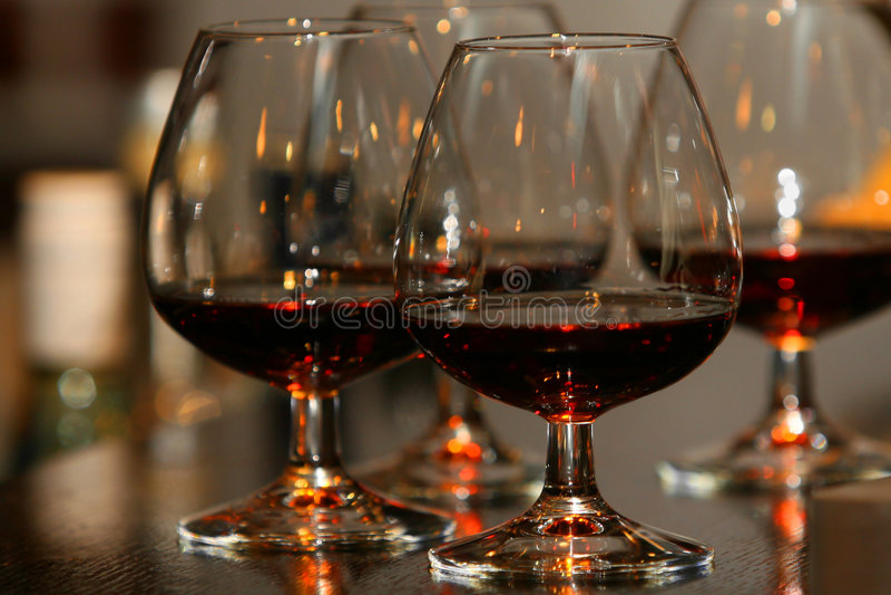 brandy szkła zdjęcie royalty free