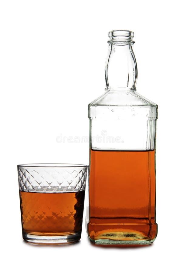 Brandy in vetro nove fotografia stock libera da diritti