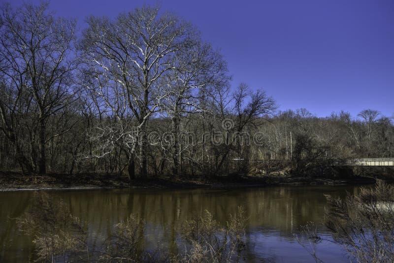 Brandywine小河在威明顿,特拉华 库存图片