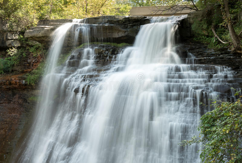 Brandywine fällt seidiger Wasserfall stockfotografie