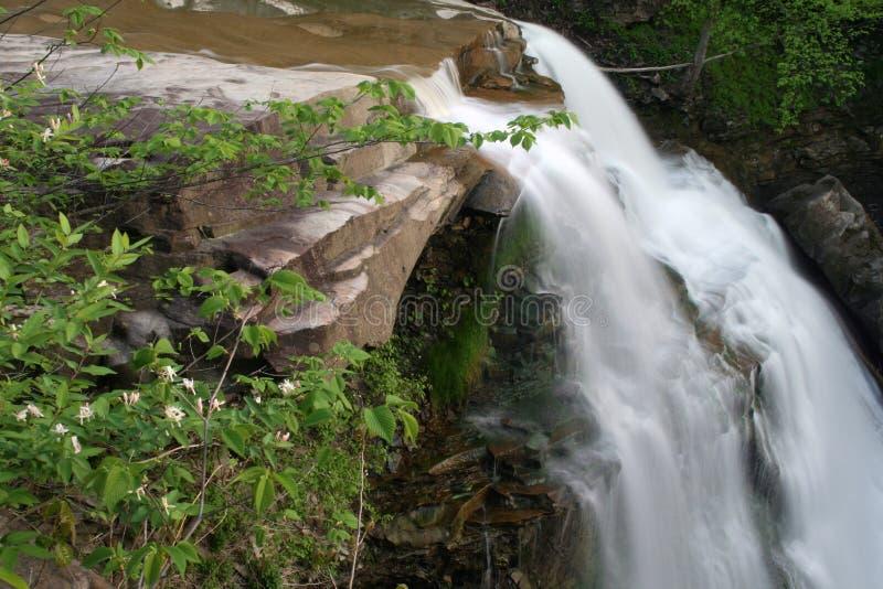 Brandywine Falls. Brandywine waterfalls in the Cuyahoga Valley National Park royalty free stock image