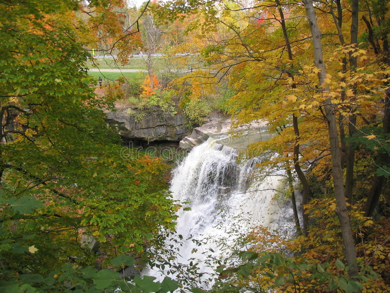 Brandywine Falls in Autumn. Brandywine Falls in Cuyahoga National Park, Ohio. Fall Colors royalty free stock photo
