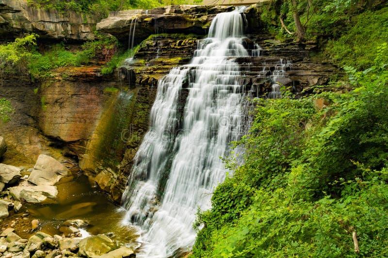 Brandywine Falls. Beautiful Brandywine Falls in Cuyahoga National Park Ohio stock photo