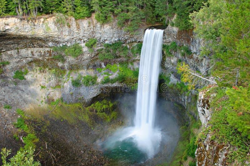 Brandywine Falls, British Columbia. Brandywine Falls, near Whistler, BC. long exposure to blur water stock photography