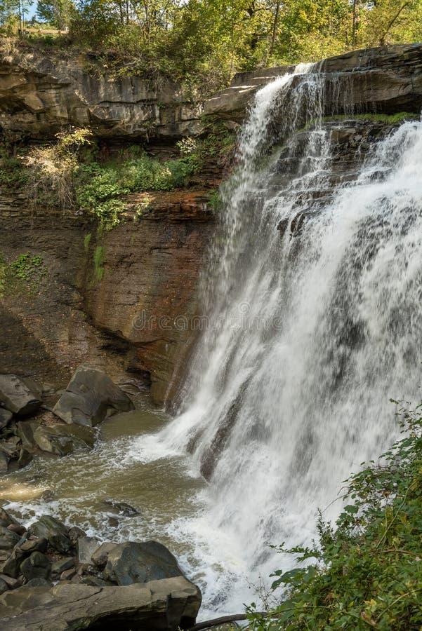 Brandywine Falls Gorge. Brandywine Falls waterfall in Sagamore Hills, Ohio royalty free stock images