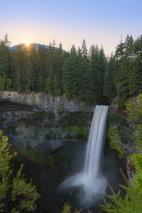 Brandywine tombe coucher du soleil dans le Canada de Whistler images stock