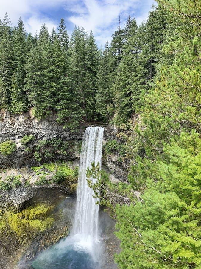 Brandywine waterfall in Beautiful British Columbia, Canada. Brandywine waterfall off of the Sea to Sky highwaynear Squamish and Whistler, in Beautiful British royalty free stock image