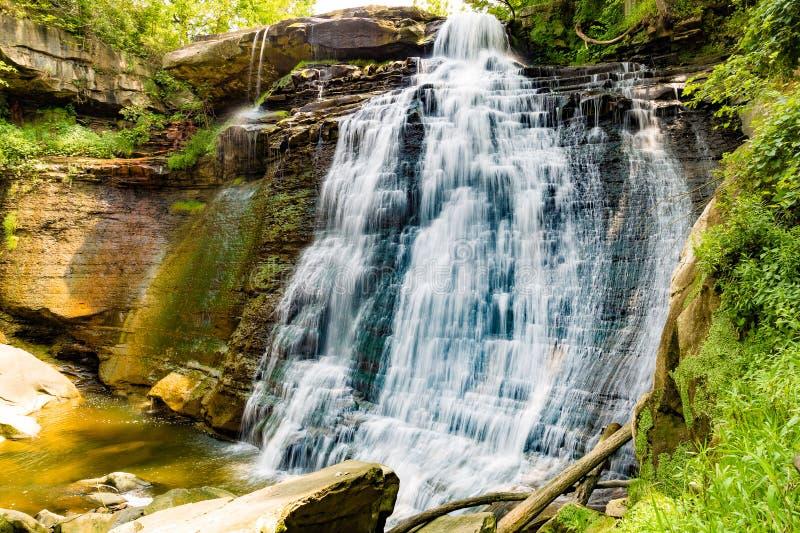 Brandywine Waterfall. Beautiful Brandywine Falls in Cuyahoga National Park, Ohio royalty free stock images