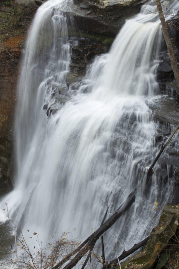 Brandywinedalingen van Cuyahoga-Vallei Nationaal Park in noordelijk Ohio stock foto's