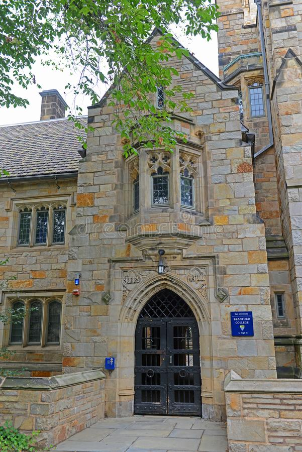 Branford College, Yale University, CT, Etats-Unis images libres de droits