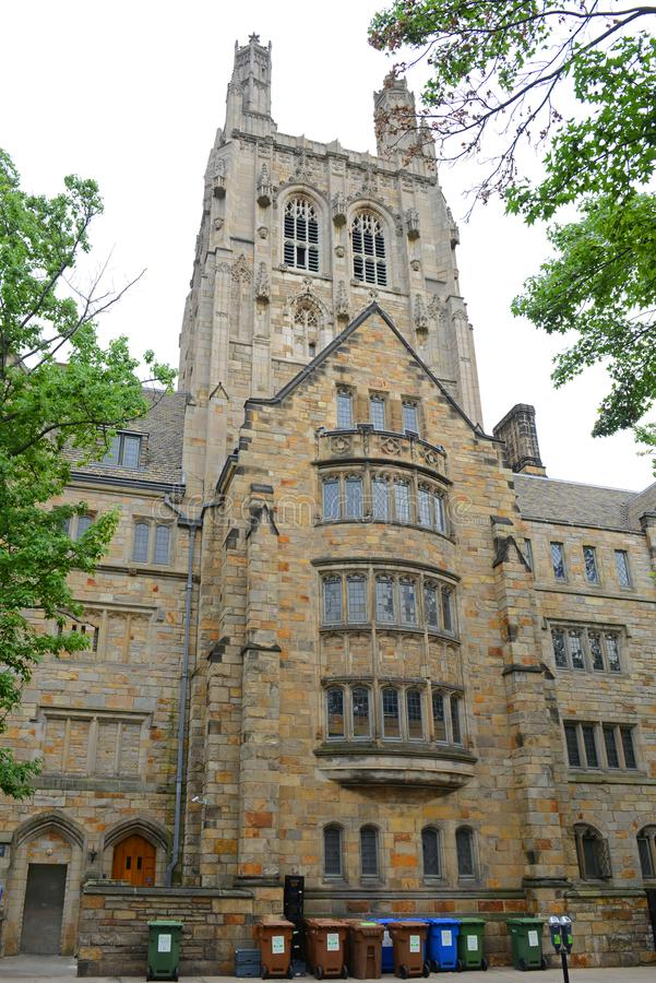 Branford Hall, Yale University, CT, Etats-Unis images libres de droits