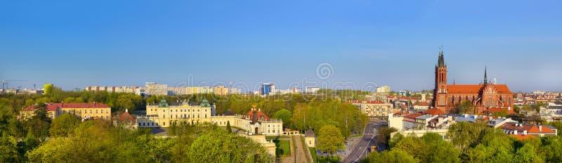 Branicki pałac i Medyczny uniwersytet bialystok zdjęcia stock