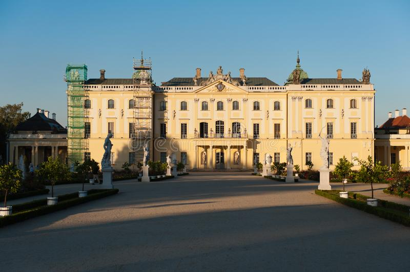 Branicki Palace in Bialystock stock photos