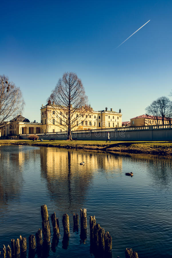 Branicki Palace in Bialystok royalty free stock images