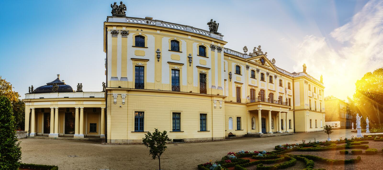Branicki Palace in Bialystok stock photo