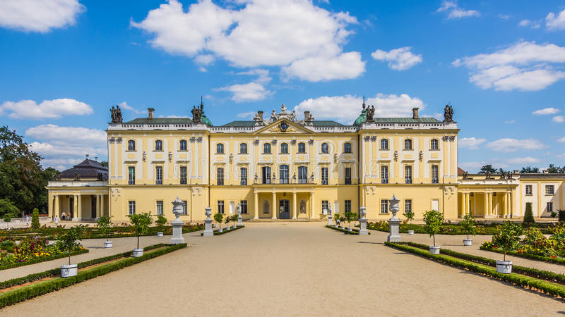 Branicki Palace in Bialystok stock photography
