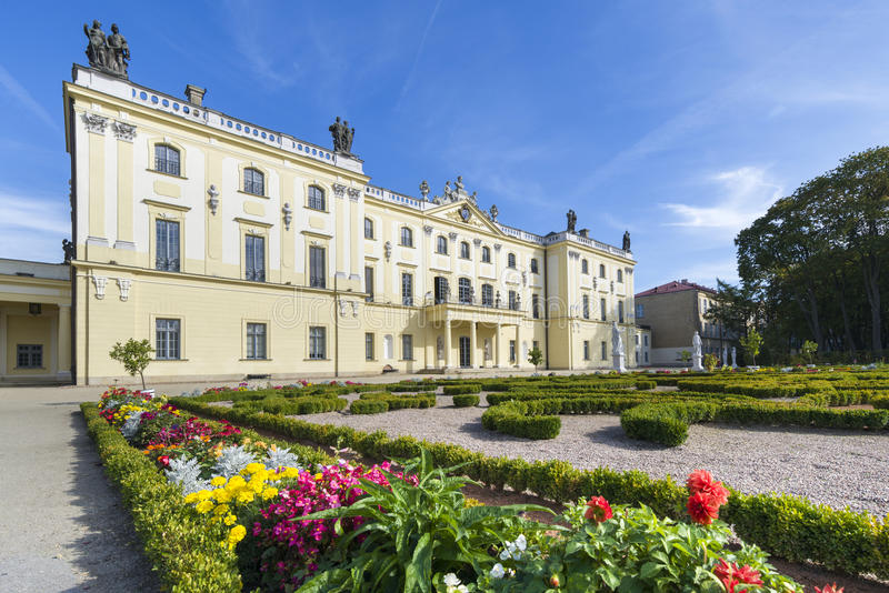 Branicki Palace in Bialystok, Poland stock images