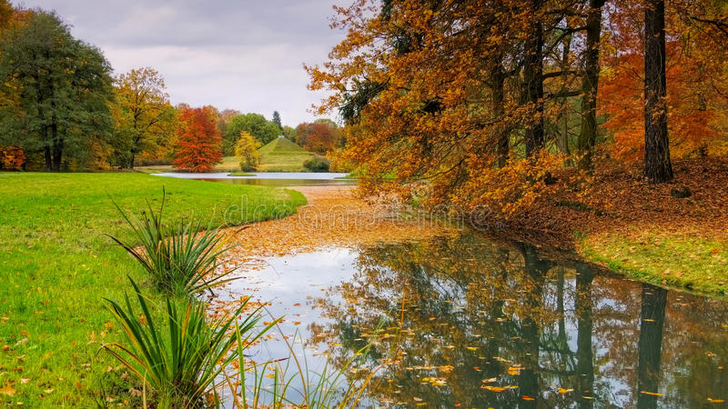 Branitzpark in Lusatia stock fotografie