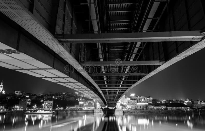 Branko-` s Brücke Belgrad stockbild