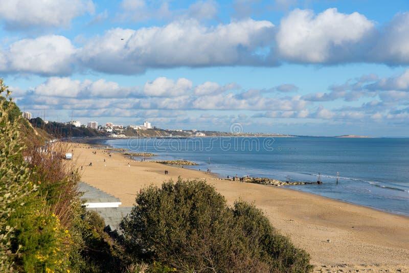 Branksome strand och kust Poole Dorset England UK nära till Bournemouth arkivbild