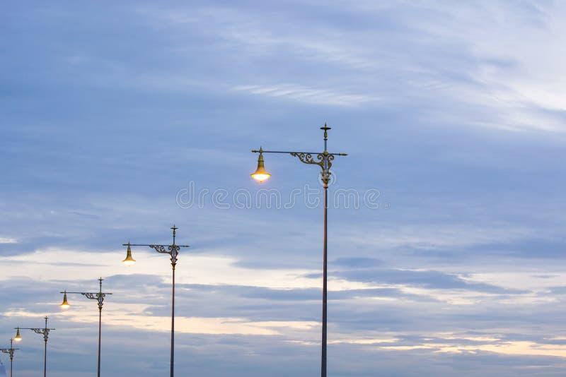 Bransch för lampstolpeelektricitet royaltyfria foton