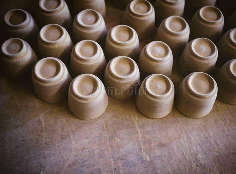 Bransch för produkt för hantverk för krukmakerilera handgjord royaltyfri fotografi