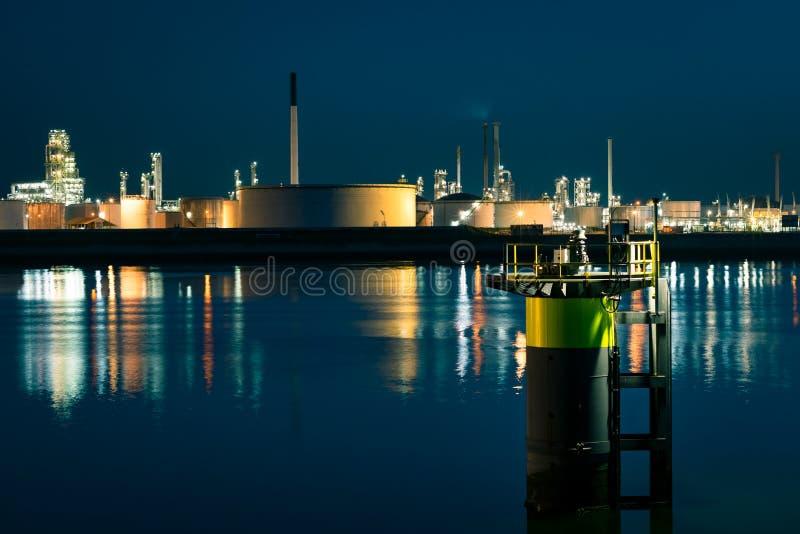 Bransch på en flodstrand i Europoort, nära Rotterdam, Nederländerna fotografering för bildbyråer