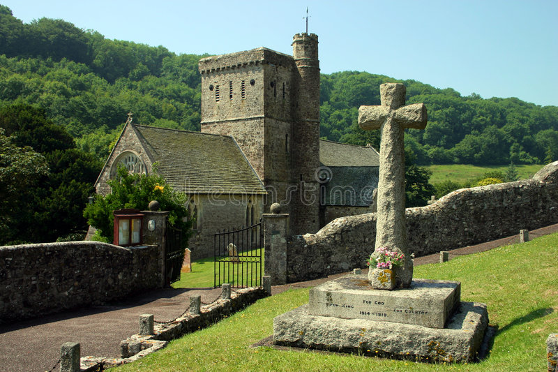 branscombe教会 免版税库存图片