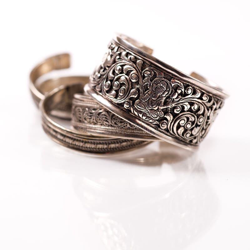 bransoletek hindusa srebro tradycyjny obrazy stock