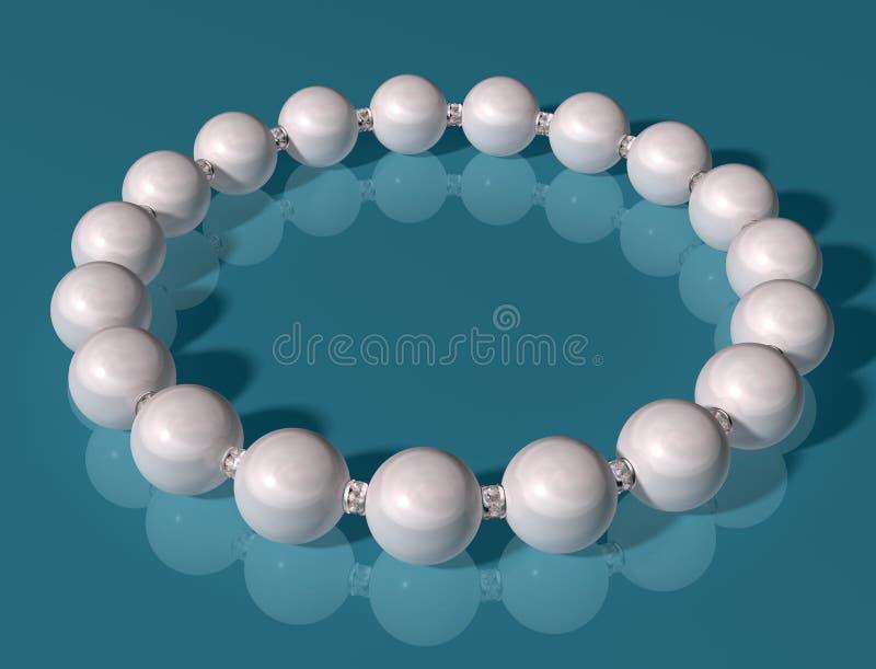 bransoletki perła royalty ilustracja