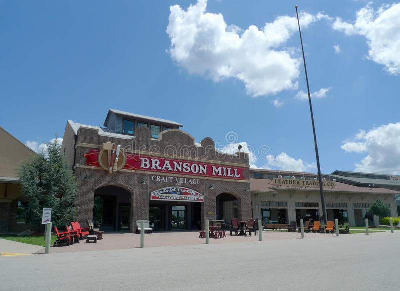 Branson Mill Craft Village, Branson, Missouri. Demonstrating artists and over 100 shops all under one roof, this store offers a unique selection of items, and stock images