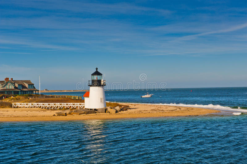 Brant ελαφρύς φάρος σημείου, Nantucket, βακαλάος μΑ ακρωτηρίων στοκ εικόνα με δικαίωμα ελεύθερης χρήσης