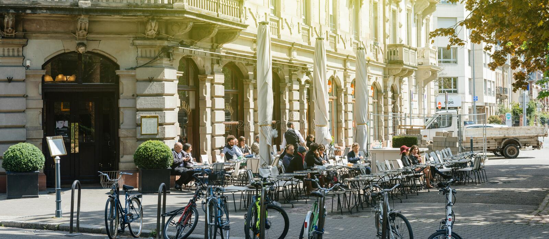 Brant καφές - εικονικό υπαίθριο terace Γαλλία στοκ εικόνες