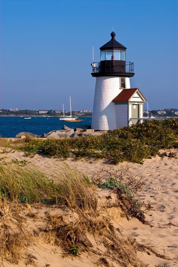 Brant φάρος σημείου στο νησί Nantucket, μΑ στοκ εικόνες