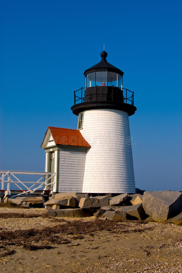 Brant φάρος σημείου στο νησί Nantucket, Νέα Αγγλία στοκ φωτογραφίες