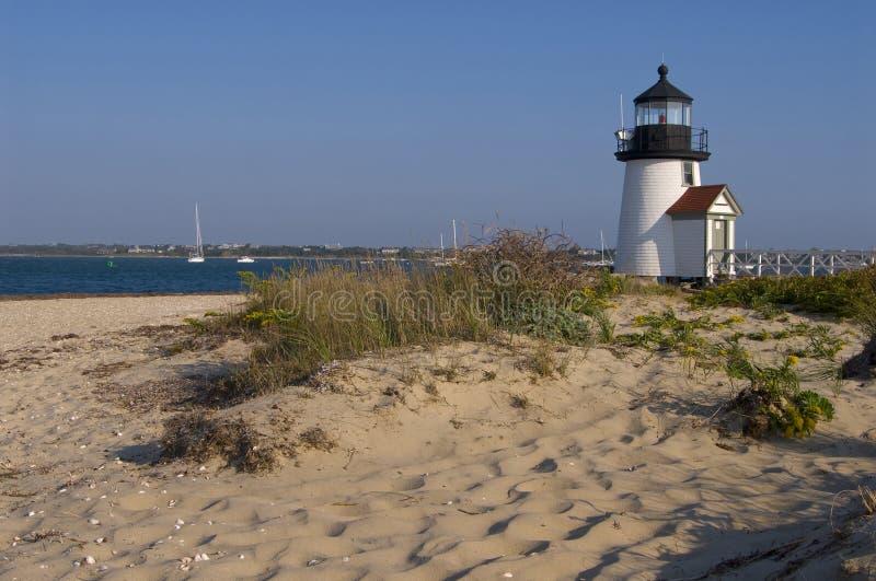 Brant Point Light auf Nantucket-Insel lizenzfreies stockbild