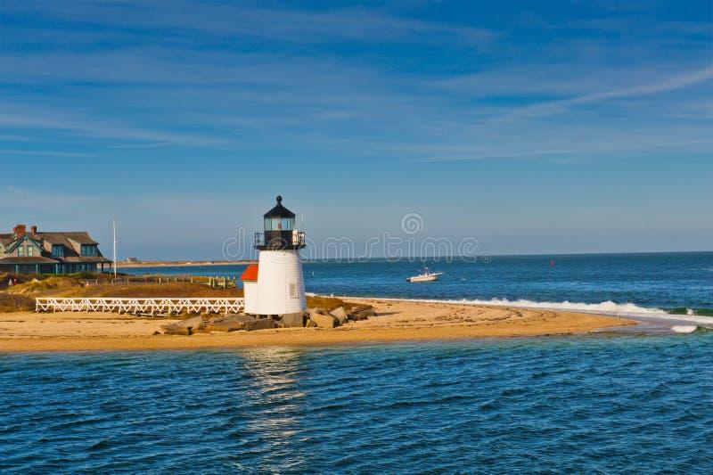 Brant Point Light Lighthouse, Nantucket, Cape Cod MA lizenzfreies stockbild