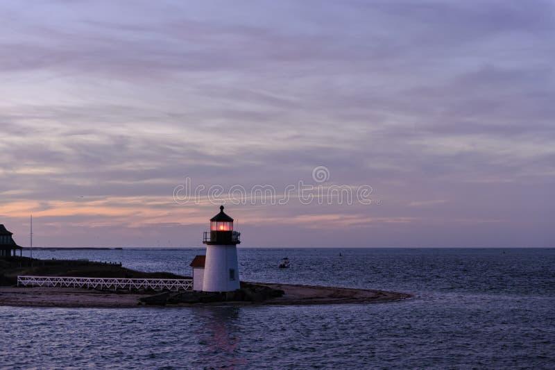 Brant Point Light Lighthouse, Nantucket, Massachusetts, USA stockbild
