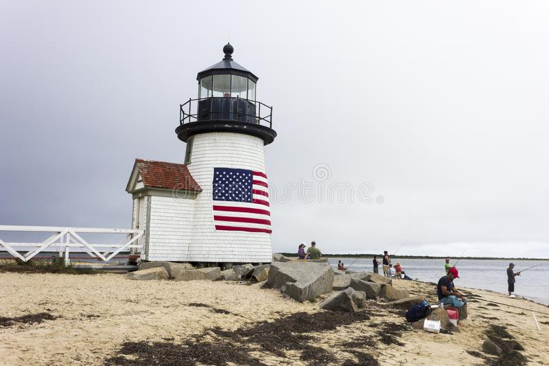 Brant Point Light, Nantucket stock foto