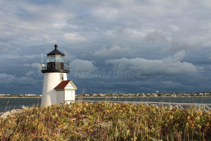Brant Point Light, Nantucket, doctorandus in de letteren stock afbeelding