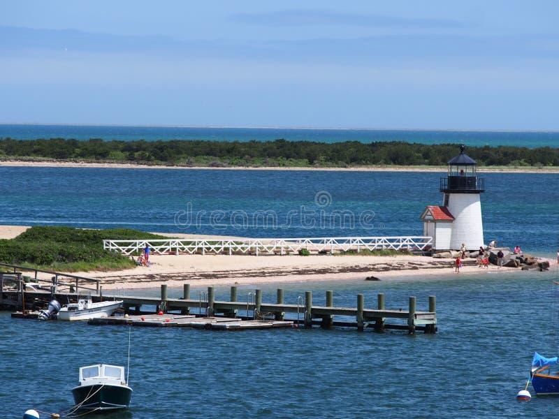Brant Point Light, Nantucket-Insel lizenzfreie stockfotos