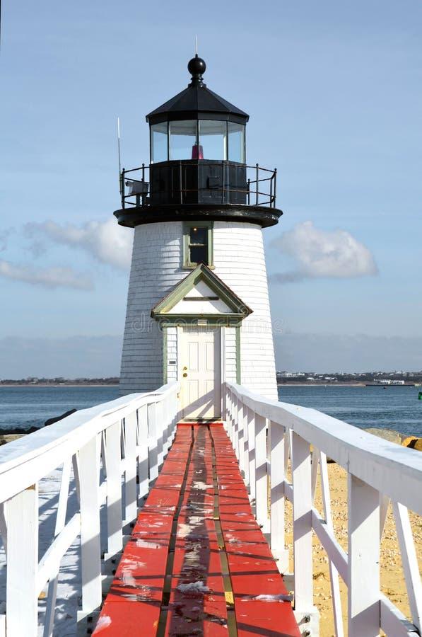 Brant Point Lighthouse lizenzfreies stockbild