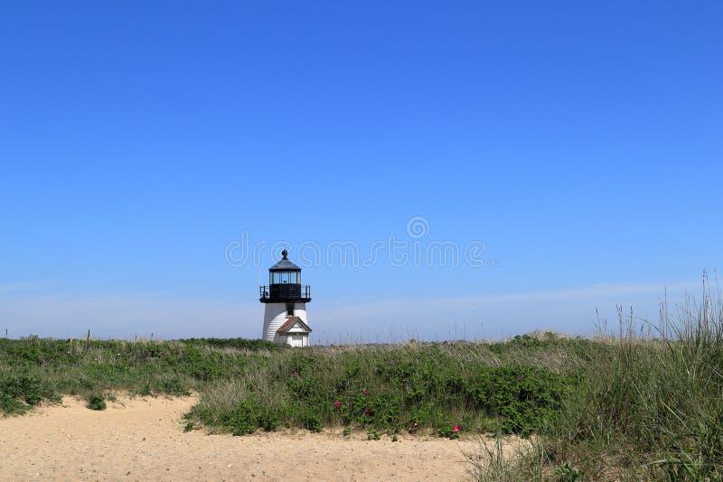 Brant Point Lighthouse auf Nantucket-Insel stockfoto