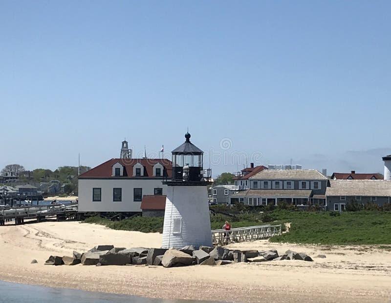 Brant-Punkt-Leuchtturm, Nantucket, MA stockbild