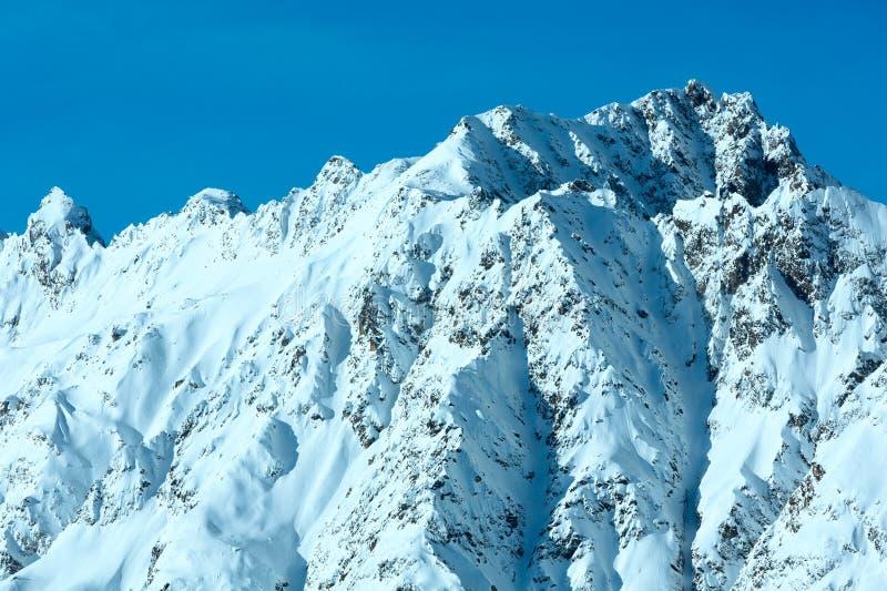 Brant stenig lutning för vinter, Österrike royaltyfri bild