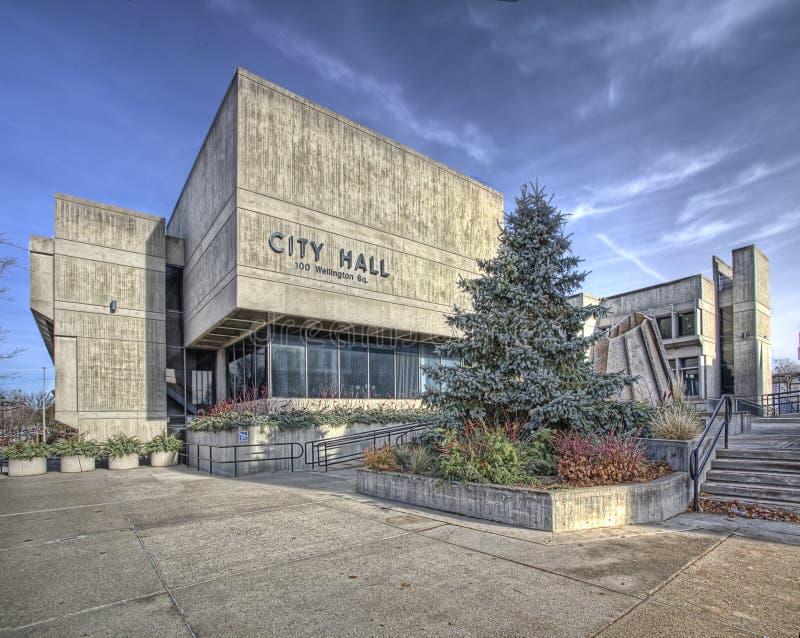 Brantford stadshus i Ontario, Kanada arkivbilder