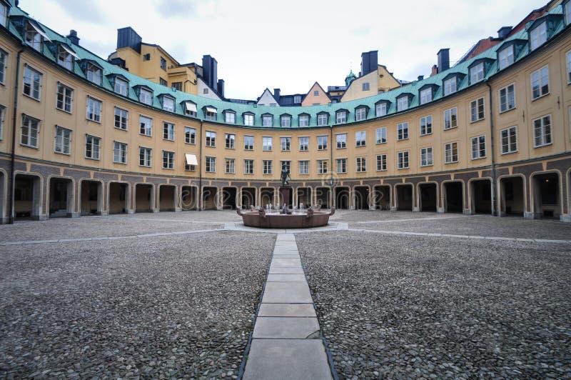 Brantingtorget, Bijlage van de Kanselarij, Stockholm, Zweden royalty-vrije stock afbeeldingen
