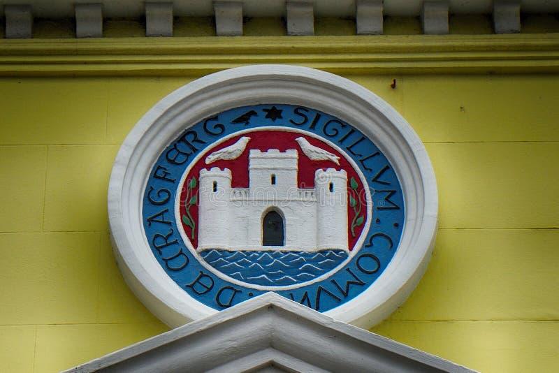 Brasão, Carrickfergus, Irlanda do Norte fotos de stock