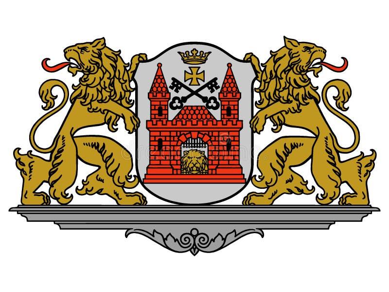 Brasão da cidade de Riga ilustração do vetor