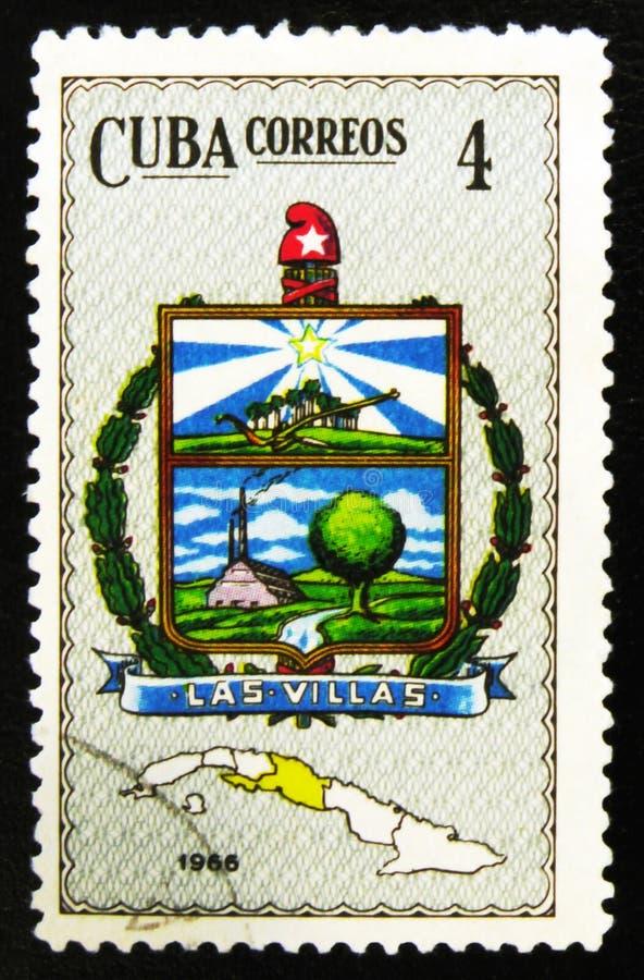 Brasão da província das casas de campo de Las, agora casa de campo Clara Province, cerca de 1966 fotografia de stock royalty free